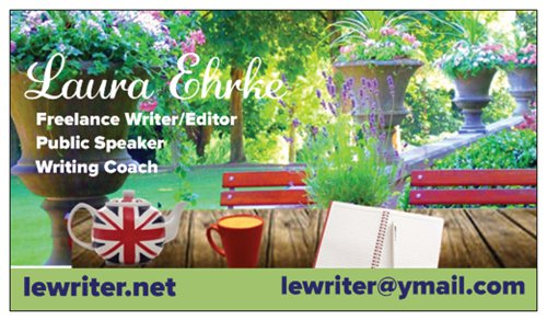 lewriter writing coach business card